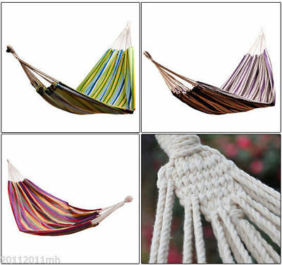 Outsunny Portable Camping Hammock Hanging Sleep Outdoor Travel Bed 4 Options