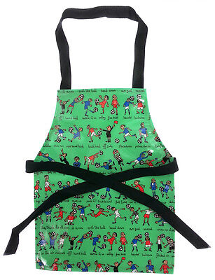 One Size Kids Football Doodle Wipeable PVC Coated Apron - Craft Painting Baking