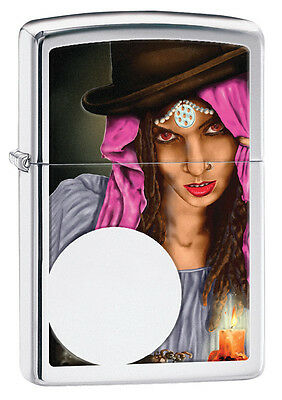 Zippo High Polish Chrome Fortune Teller Windproof Lighter 28656 New