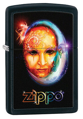 Zippo Black Matte Girl Time Windproof Lighter 28669 New