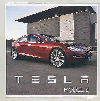 2012 Tesla Model S Brochure Poster mx7736