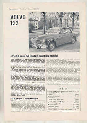 1963 122 British Road Test Brochure Right Hand Drive wu2115