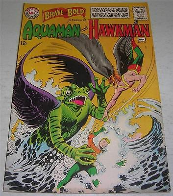 BRAVE AND THE BOLD #51 (DC 1963) AQUAMAN & HAWKMAN (FN/VF) Pre-dates HAWKMAN #1