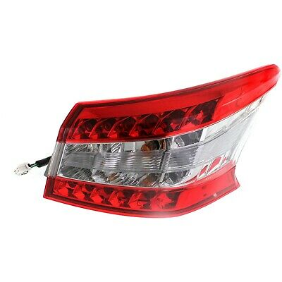 Halogen Tail Light For 2013-15 Nissan Sentra Right Outer Clear/Red Lens w/Bulbs