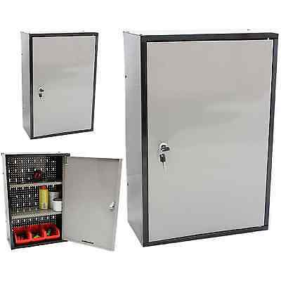 Lockable Metal Garage/shed Storage Cabinet Wall Unit Tool/paint Locking Cupboard