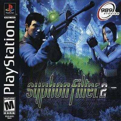 SYPHON FILTER 2 - PS1 PS2 COMPLETE PLAYSTATION GAME!