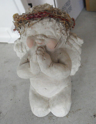 "Large Dreamsicles Figurine Praying Cherub Boy 4 1/2"" TallLOOK"