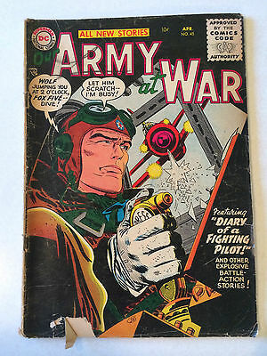 Our Army at War #45 from 1956 DC War comic