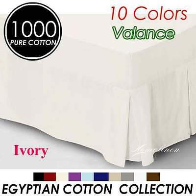 1000TC Egyptian Cotton High Quality Valance Queen Size-Ivory