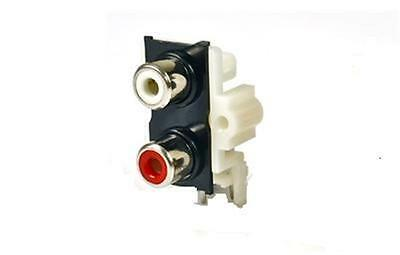 Pcb Phono Socket  Twin Mounting  (Red/white)