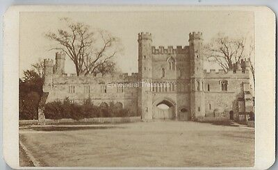 Battle Abbey, Sussex - C.1870 CDV by Mann of Hastings