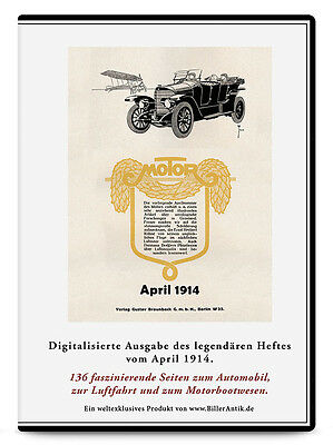 CD Georg Ahlemeyer Bosch-Licht Cycle Car Motorradmodelle MOTOR April 1914