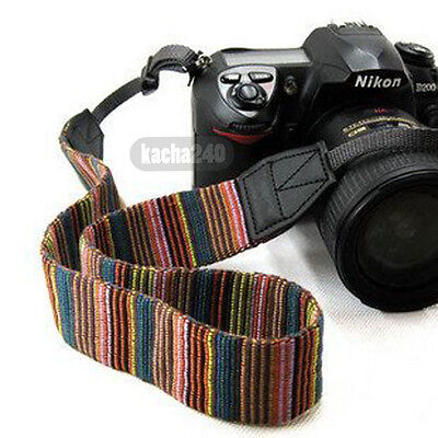 Retro Folk Style DSLR Camera Neck Shoulder Strap Belt Vintage for Canon Nikon