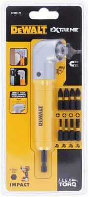 "DEWALT DT71517 1/4"" Impact Right Angle Cordless Drill Chuck + 9 Screwdriver Bits"