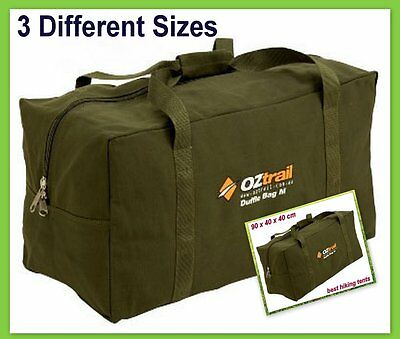 New OZtrail Heavy Duty Canvas Duffle Carry Bag Travel Luggage Duffel Tote 3 Size