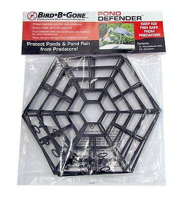Bird B Gone Floating Pond Defender, Nearly Invisible Fish Protection from Birds