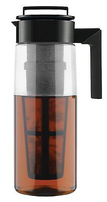 Takeya 11177 Flash Chill Iced Tea Maker With Extra Large Infuser Black 66oz