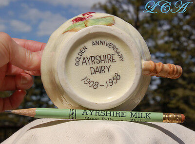 Old AYRSHIRE MILK Dairy GREAT FALLS & SHELBY MONTANA souvenir PITCHER and PENCIL