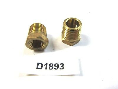 Brass Fitting 1/8-1/4  NPT Reducing Bushing (lot of 2)