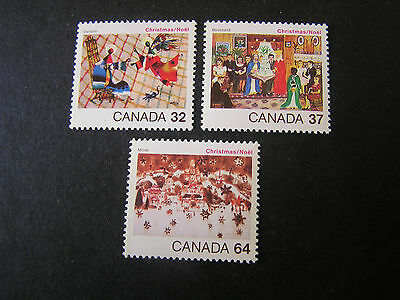 Canada, Scott # 1040-1042(3) 1984 Christmas Issue Mnh