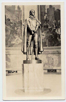 1930 VINCENNES IN 2 diff Rogers Clark Memorial REAL PHOTO postcards
