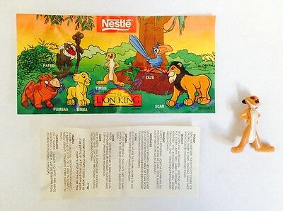 Nestle Magic Disney's Lion King Timon the Meerkat Figure Mint w/ Paper Inserts