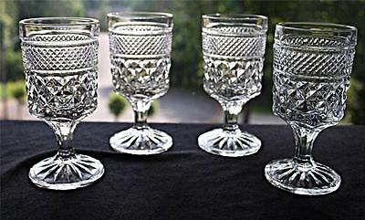 SET OF 4 WEXFORD CLARET WINE GOBLETS BY ANCHOR HOCKING - 4 OUNCE