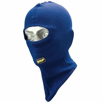 OMP Open Face Kart Racing/Go Karting Balaclava - One Size - In Blue