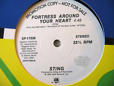POP ROCK/ Sting - Fortress Around Your Heart (WL Promo)