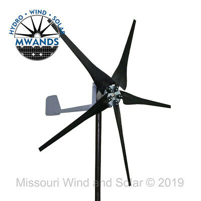 DC output Missouri Confederate 500 watt 5 blade 12 volt home wind turbine