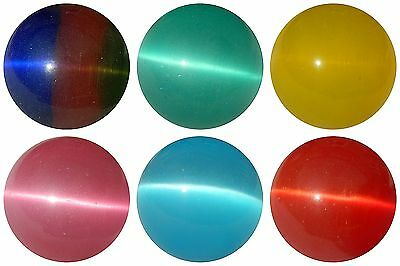 "20mm (25/32"") FIBRE OPTIC TIGER EYE MARBLES - AMAZING EFFECT IN LIGHT - NEW"