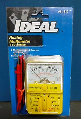 Ideal / Sperry 61-610 Analog Multimeter, 5 Function, 13 Range Small and Portable