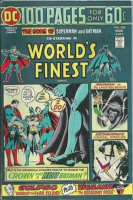 World's Finest #228 (Dc) 1975 (100 Pages) Vf (8.0) Superman And Batman