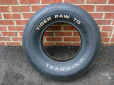 Nos Uniroyal Tiger Paw 70 Alley Cat Wl Tire G70-14 70 71 72 Gto 442 Elcamino Gs