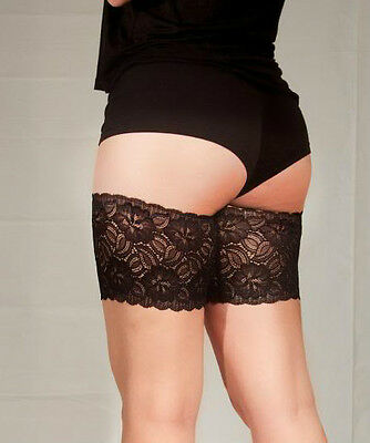 "Bandelettes Black Anti-Chafing Lace Thigh Bands 21""-32"""