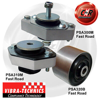Peugeot 106 96-04 Phase 2 Vibra Technics Full Engine Mount Road Kit
