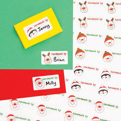 Christmas Personalised 'Handmade By' Stickers (Pack of 120)