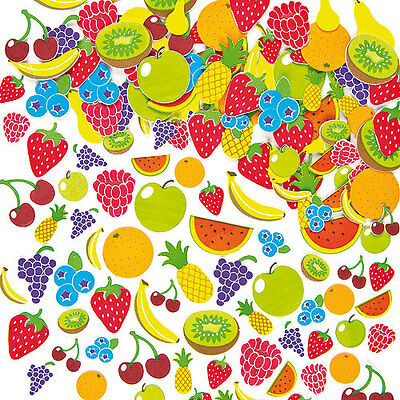 Fruit Foam Stickers for Kids to Decorate Crafts & Cards (Pack of 120)