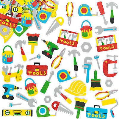 Tool Foam Stickers for Kid's Crafts & Card Making for Father's Day (Pack of 120)