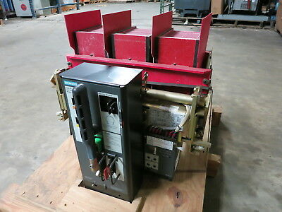 Siemens RL-2000 2000 Amp Air Breaker LS Static Trip III RMS-TS-TZ Motor Operated