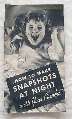 Trifold Brochure How To Make Snapshots At Night With Your Camera Kodak 1937