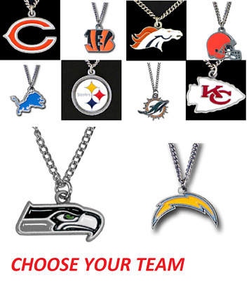 Officially Licensed NFL Team Chain Logo Necklace Choose Your Team