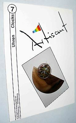 ARTISANT #7 CLOCKS Stained Glass Pattern Set Art Object NEW German OOP