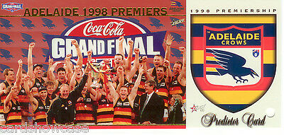 1998 Select AFL Adelaide Premiership Limited Edition Card + Predictor Card