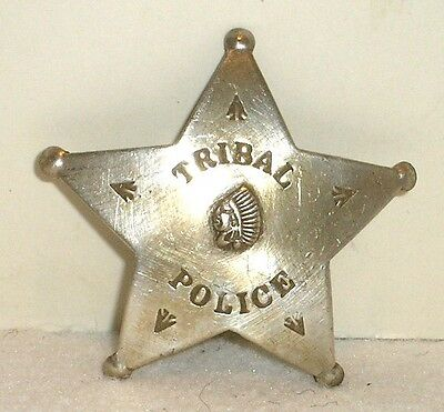 Tribal Indian Police 5 Point Copper Old West Badge Star Free Shipping