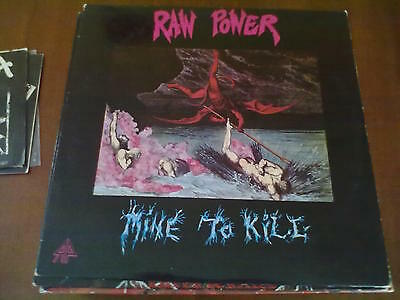 Raw Power - Mine To Kill Lp 1° Stampa Sonic Attack V4 Ex/ex!!! Raro
