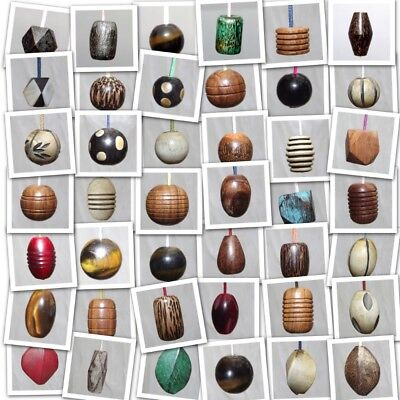 40 STYLE Uniquely Different Natural Wood Horn Bone Light Blind Cord Pull Ends