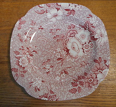 Red Floral Transfer Plate - Spode England