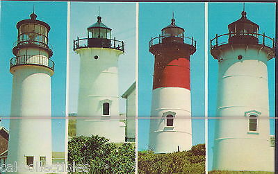 Vintage Post Card of Cape Cod Lighthouses
