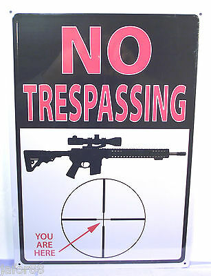No Trespassing... You Are Here, Metal Sign, Rivers Edge, Unisex Adult